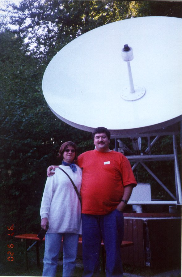 They are seen here at the 3-meter radio telescope at the Starkensburg ...